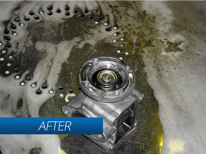 After using Torrent 500 parts cleaning machine