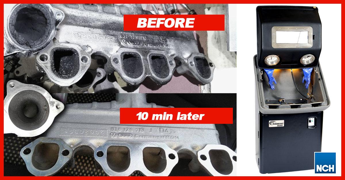 Before-aftre phots - Torrent 500 partscleaner